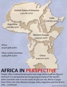 Landkarte: Africa In Perspective